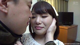 Busty short haired Japanese Ikegami Mahiro missionary fucked hardcore