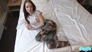 Beautiful Russian Teen be expeditious for 1 takes a big blarney together with an incredible facial.