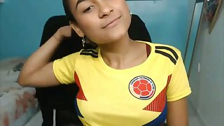 Cute Colombian Amateur Teen Latina on Webcam