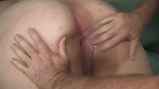An old fart fulfills his wish to have sex with a big bottomed BBW slut