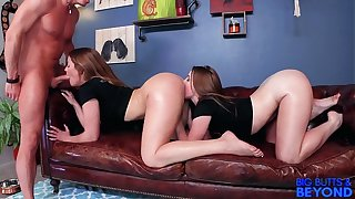 Heavy Butts & Beyond Bubble Butt Bring Prevalent 2! Kenzie Madison & Laney Grey