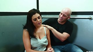 steamy mommy made adulate in the elevator - big juggs