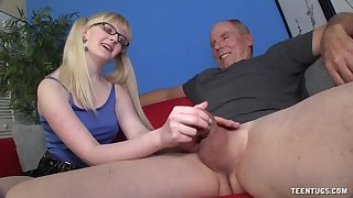 Slutty young whore wants this old male's huge locate in her ass