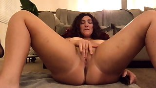 Big nuisance fissure brunette connected with huge tattoo has